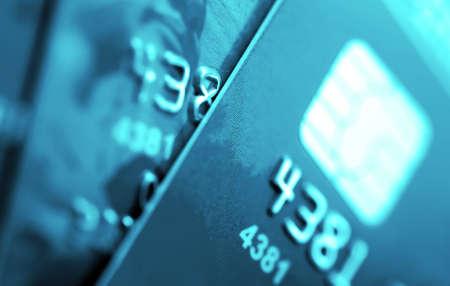 クレジット カード マクロ焦点の小さな深い。 写真素材