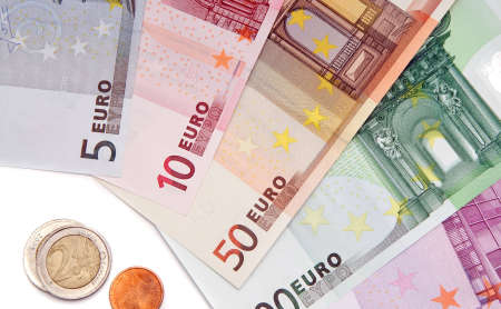 european money: Collection of european money for background