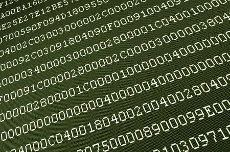 computer data on screen abstract background Stock Photo - 4698262