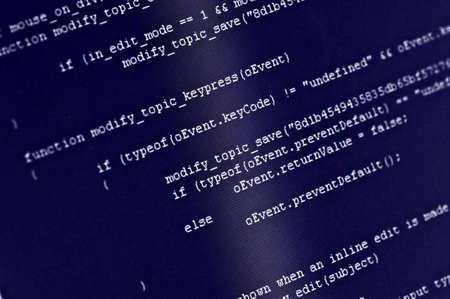 Program code on computer screen Stock Photo - 4698310