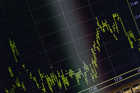 Stock market index on the lcd monitor Stock Photo - 4696270