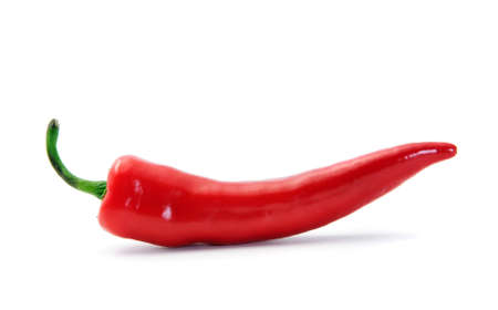 red hot pepper isolated on white