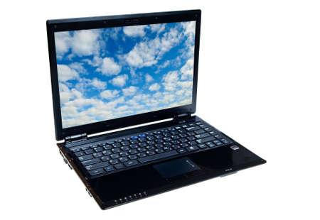 a modern expensive notebook Standard-Bild