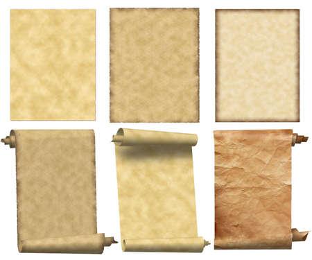 Grunge papers en scrollt set