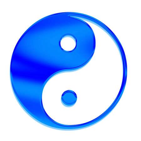 Yin-yang (Tai Chi) in Chinese art, the symbol  photo