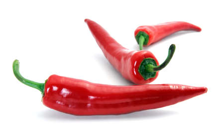 Hot chili peper op wit