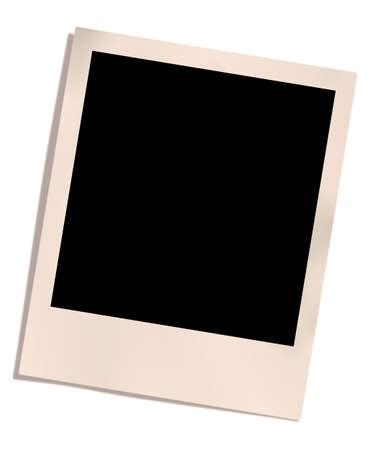 white polaroids: photo frame isolated on white background