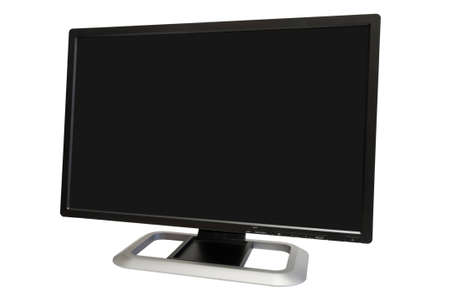 24 inch wide computer monitor isolated on white Stock Photo - 5192694