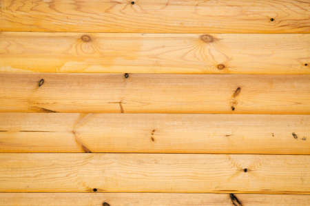 log on: background pattern of natural pine balk wall Stock Photo