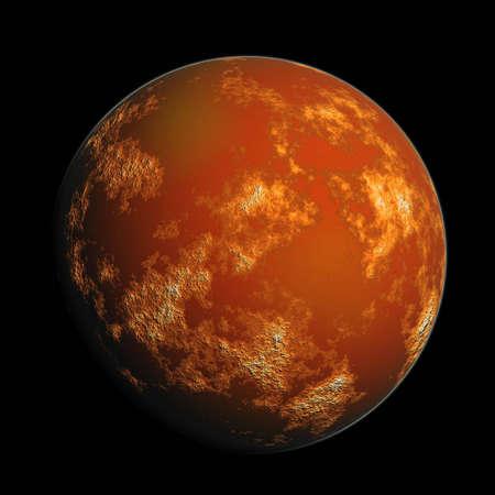 orange render planet Mars