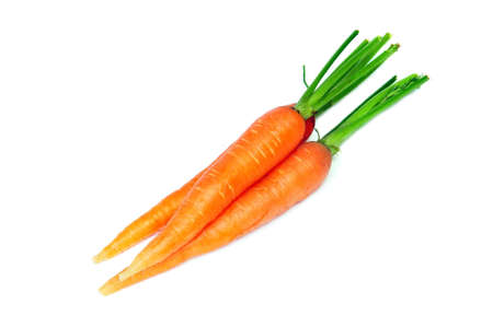 Carrot fresh vegetable group on white background  photo