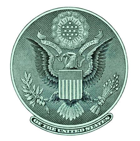 unum: Eagle seal from dollar bill