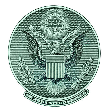Eagle zegel uit dollarbiljet