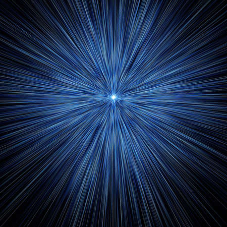 abstract  beams on black,  space blast Stock Photo - 5606136