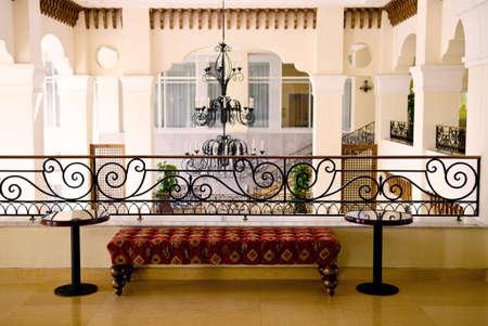Lobby area with a sofa