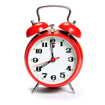 old fashion Alarm clock isolated on white Stock Photo - 5719047