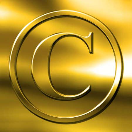 copyright simbol on gold photo