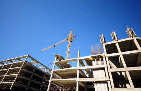 construction site with crane and building  Stock Photo - 8083922