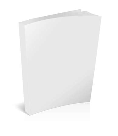 blank book cover: 3d blank white brochure isolated on white
