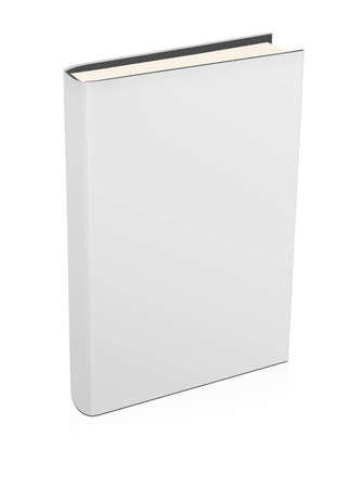 3d blank white book isolated on white Stock Photo - 9362817