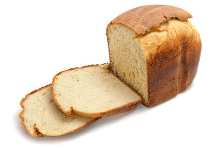 Loaf of home made bread  isolated on white Stock Photo - 9660917