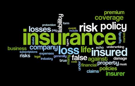 insurance word cloud conceptual image Archivio Fotografico