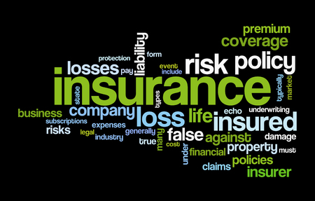 insurance word cloud conceptual image Stock Photo