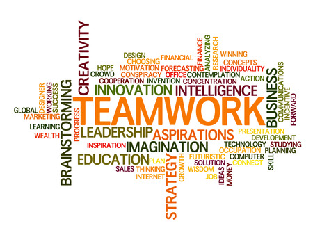 Teamwork idee Word Cloud Concept