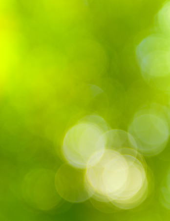 natural green light blur background