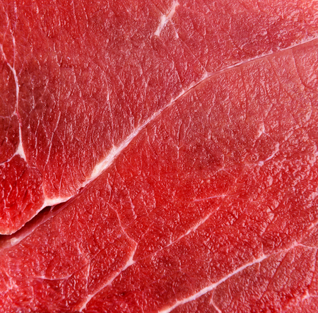 Raw red beef meat macro texture or background Foto de archivo