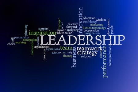 리더십 개념 텍스트 단어 구름