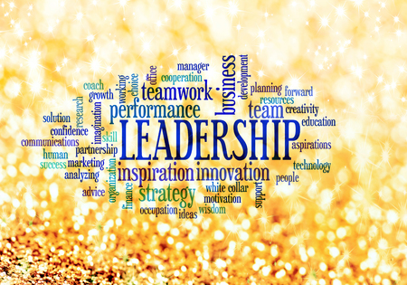 Leadership conceptual text word cloud