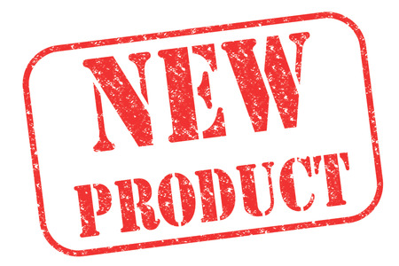 Rubber stamp NEW PRODUCT on white Reklamní fotografie