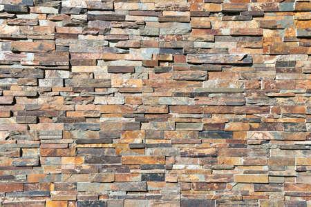 Wystrój naturalnego kamiennego muru textere