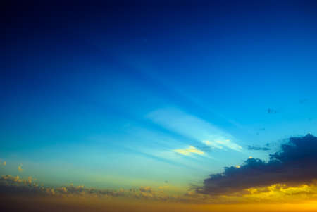 Abstract background blurred sunset with sun rays