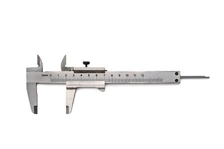 Caliper precision measurement vernier  isolated with clipping path Stock Photo