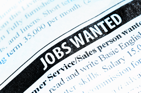 Jobs Wanted newspaper classified ad