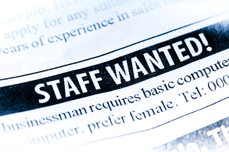 Staff Wanted newspaper classified ad
