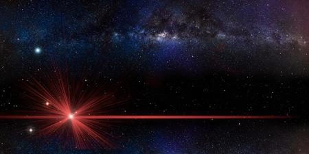 Fond d'espace de champ d'étoiles pour le concept cosmique de présentation