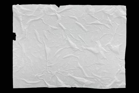 Wet crumpled glued paper for banner background or texture