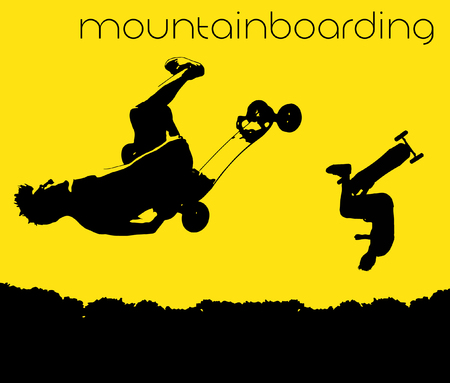 Mountainboarding silhouette