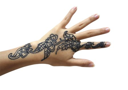 Close-up henna hand
