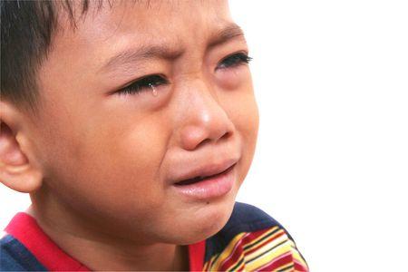 Close-up crying boy