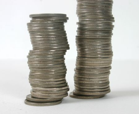 Stacked coins. photo