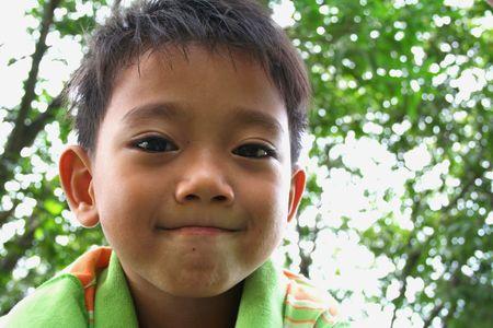 Portrait of asian boy.