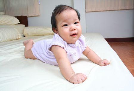 Portrait of baby girl. 写真素材
