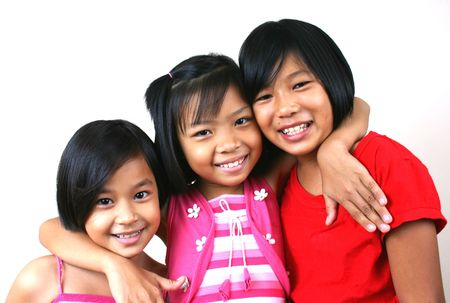 buddies: Three girls having good time Stock Photo