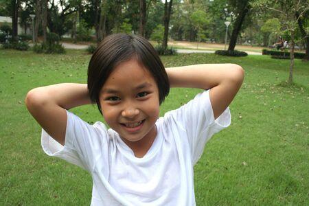 Happy asian girl. Stock Photo - 5133551