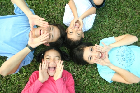 lifestyle asian: Happy asian family