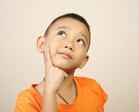 asian boy: Portrait of young happy boy